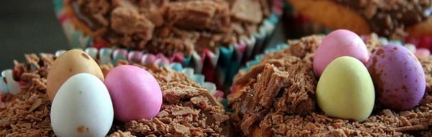 Uova di Cioccolato su Cupcakes